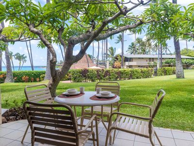 Photo for Lovely Ground Floor Ocean View Napili Shores H-166  - Fantastic Location + Steps to Napili Bay!