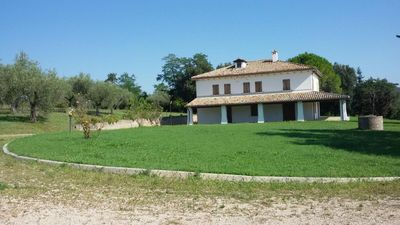 Photo for Ancient farmhouse with vaulted ceilings, surrounded by centuries-old olive trees and splendid views