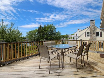 Photo for Charming water view home overlooking Mill Cove w/ a large deck - near town