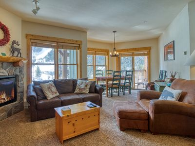Photo for NEW LISTING! Corner condo w/balcony, & shared hot tub - steps from slopes