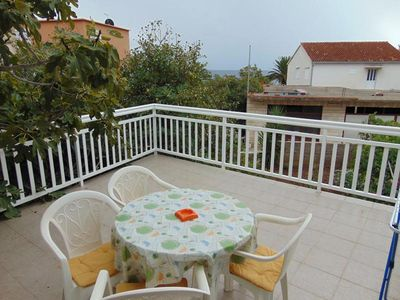 Photo for One bedroom apartment with terrace and sea view Sućuraj, Hvar (A-12887-b)
