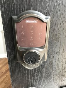 Keyless entry at front door