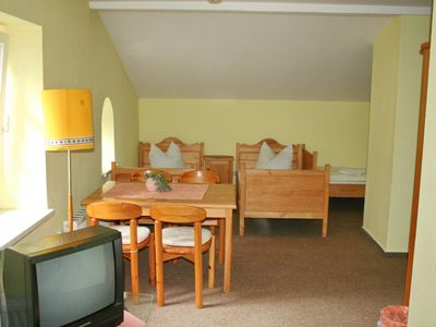 Photo for Double room with extra bed - Bürgerhaus Hasenberg
