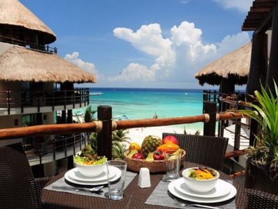 Photo for Winner of Top 25 in All Of Mexico- Oceanfront - 3/3 Penthouse - Beach Club #30