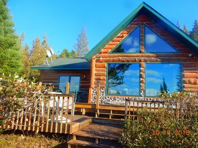 Photo for Deluxe Beachfront Log Home on Lake Huron at D.I. offers Privacy, Views, WIFI