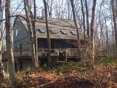 Photo for Modern Retreat in woods with stream and hiking near Bethel Woods