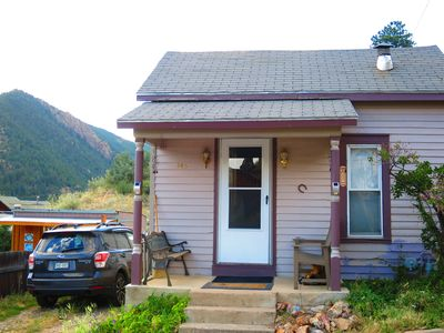 Photo for MT EVANS CABIN  WALK TO HISTORIC DISTRICT, TAKE TRAILS, SCENIC DRIVE TO MT EVANS