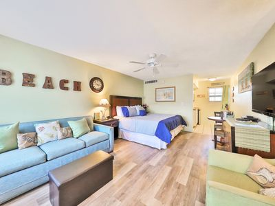 Photo for NEW LISTING! Inviting, waterfront studio w/ beach access & a shared, heated pool