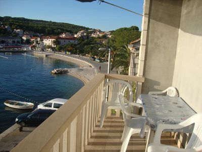 Photo for One bedroom apartment with terrace and sea view Sumartin, Brač (A-2953-c)