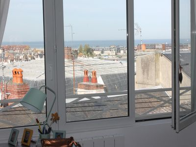 Photo for Unique in the city center of Trouville house with garden and sea view (Wifi)