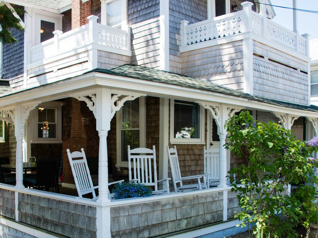 3 porches: water-view wrap-around front porch & 2 second-level