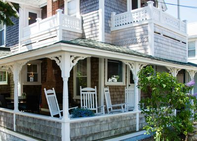 3 porches: water-view wrap-around front porch & 2 second-level bedroom balconies