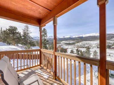 Photo for Family-friendly house w/ stunning mountain views off private deck-Bus to slopes!