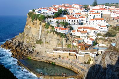 Azenhas do Mar village and its natural ocean pool