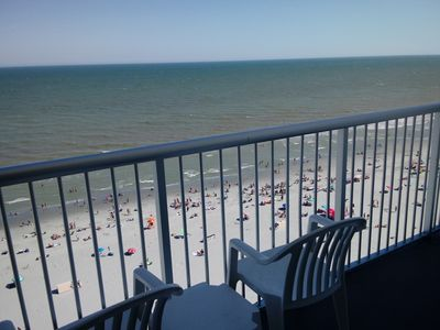 Photo for Killer View Condo-100% Direct Oceanfront has a million dollar view from balcony.