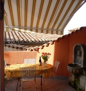 Photo for Sunny Terrace in Town Center - Isle sur la Sorgue