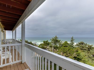 Photo for Upper-level oceanview studio near the beach - dogs welcome!