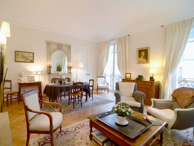 Photo for 2 bedroom Parisian Luxury next to Champs-Elysées