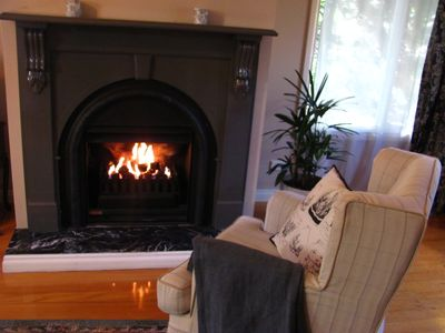 Stay in and get cosy by the open gas fire..