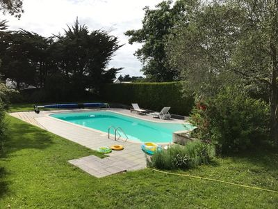 Photo for Quiet house near beach with heated pool