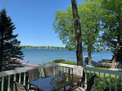 Photo for ND GAME DAY EAGLE LAKE FRONT with best views of the lake and sandy beach