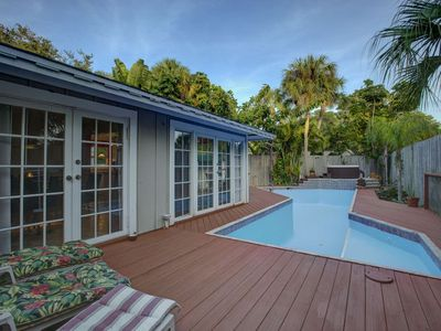 Photo for Private Pool Home on Siesta Key, WiFi Incl. Quiet and Private Retreat