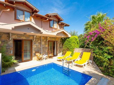 Photo for Villa Aysel Paradise: Private Pool, A/C, WiFi, Car Not Required, Eco-Friendly