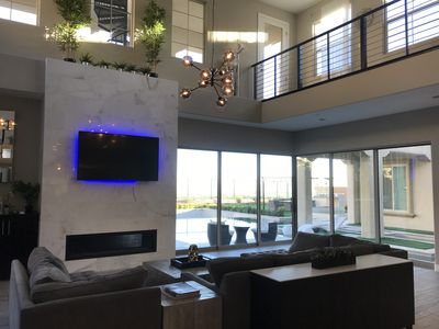 Photo for Wow! Contemporary home with mountain and city views! 15 mins from the strip!