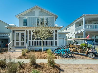 Photo for 6 Seater Golf Cart!~ 2,700+ SQ FT ~ TWO KINGS, Heated POOL~Sea Dreamer in NatureWalk at Seagrove 30A
