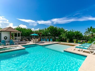 Photo for Studio at Seabreeze Suites - Walk 1 Block to Beach, Lounge by the Pool