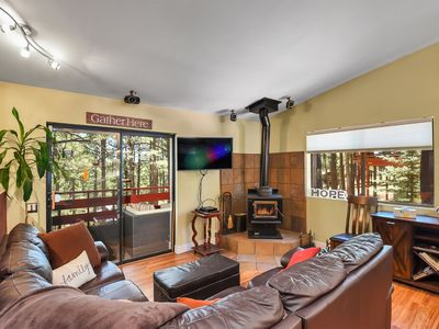 Photo for Treehouse Retreat W/ Every Bell & Whistle, Hot Tub, Karaoke & More!