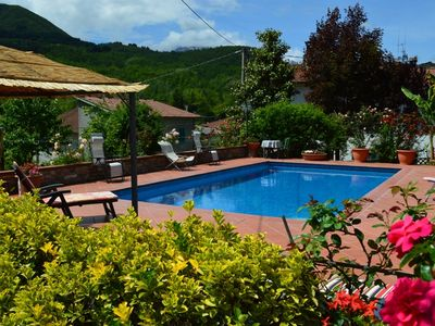 Photo for Modern spacious detached villa, with large heated private pool