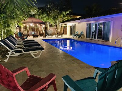 Photo for CENTRALLY LOCATED GLORIOUS HOME RESORT STYLE  POOL &  BACKYARD 6 mins to Beach