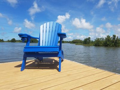 Photo for Views! Fish or Boat Off the Private Dock!  Pet Friendly! Blue Chair Key Cottage!