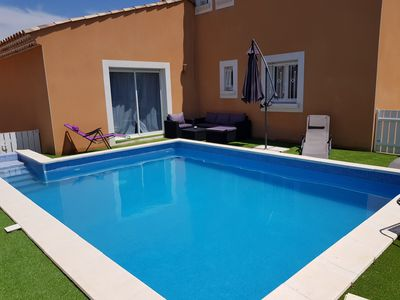 Photo for Pretty and Spacious Villa with Pool 3km from the Sea