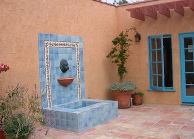 Patio of guest house with Spanish Fountain