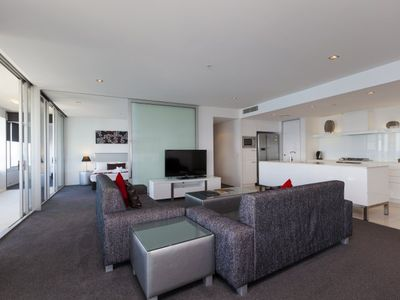 Photo for Huge Modern Three Bedroom Apartment with City Skyline Views at Q1 Resort & Spa