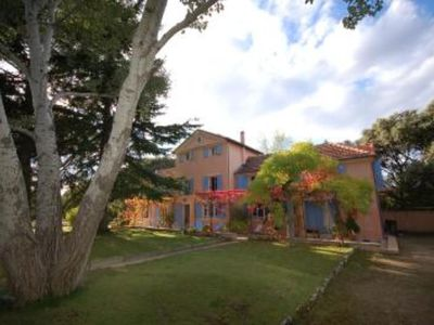 Photo for Nice Provencal mansion, 6 rooms,10 persons, private tennis court, swimming pool