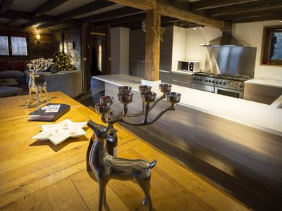 Superior Saint Jean De Sixt Chalet Rental   Lovely Open Plan Kitchen Dining And