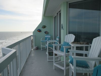 Photo for 3br 3ba Oceanfront Condo. Beautiful Views From Penthouse Balcony