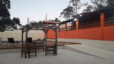Photo for Chácara Linda- Nova - 15 km from Guarulhos- 4 bedrooms- barbecue- swimming pool
