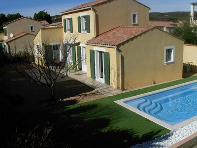 Photo for Beautiful house with private pool Narbonne Plage