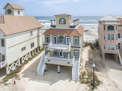 Photo for Beautiful Beach Front House with an Amazing Rooftop Deck and elevator!