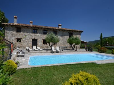 Photo for Beautiful, 700 year-old, rustic Catalan masia (farmhouse) with magnificent views