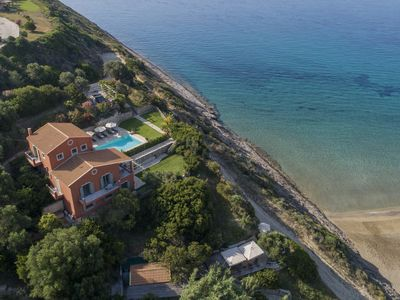 Photo for BEACH FRONT, DIRECT ACCESS TO SANDY BEACH, AMAZING SEA VIEWS,PRIVATE POOL