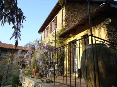 Photo for Country cottage in Liguria (Pieve di Teco), large terrace, 30 min from the sea