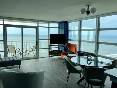 Photo for Panoramic Views from 20th floor Oceanfront Corner Condo