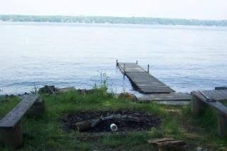 Fire Pit and Dock (high tide yr)
