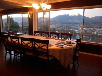 Dining room   ocean & mountain views