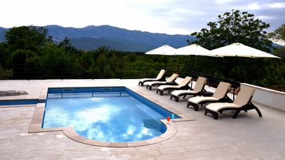 Photo for ctns232/ Holiday house with private pool in Nova Sela - Omiš, up to 8 persons, 4 bedrooms, wi-fi, AC